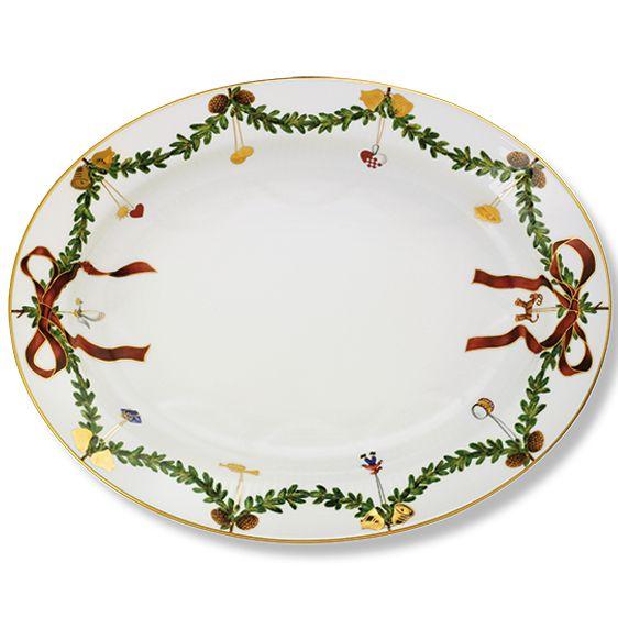 Royal Copenhagen Star Fluted Dish 37 cm