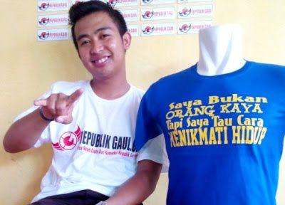 Kaos Warna - Saya Bukan Orang Kaya Tapi Saya Tau Cara Nikmati Hidup