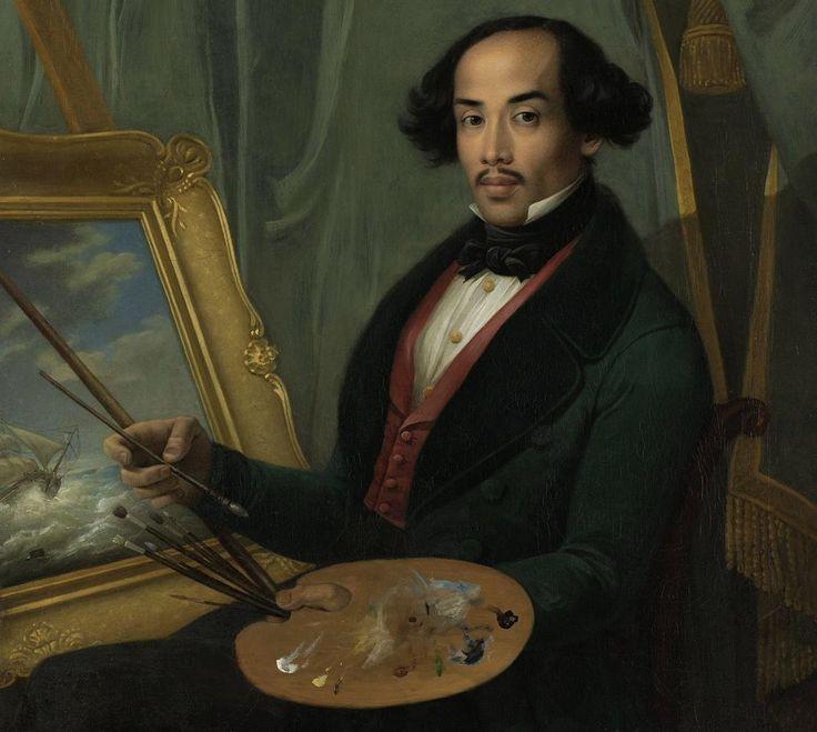 Raden Saleh Sjarif Boestaman (1811 - April 23, 1880), Javanese Aristocrat and Painter, by Friedrich Carl Albert Schreuel (1773-1853)