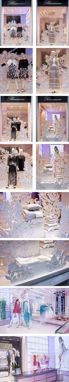 Blumarine Milan Boutique Windows - April 2015 #mdw