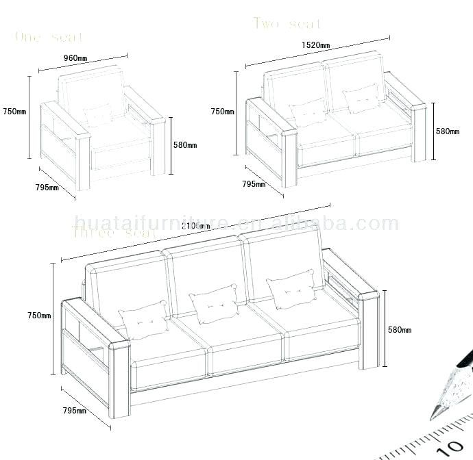 Standard Sofa Dimensions In Meters Wallpaperall Wooden Sofa