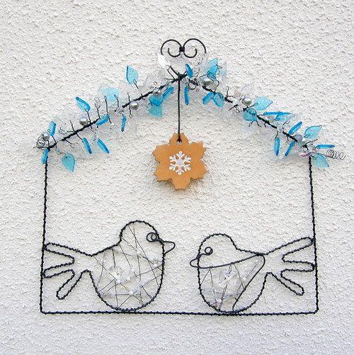 Drátovaný obrázek Ptačí zpěv by kramářka