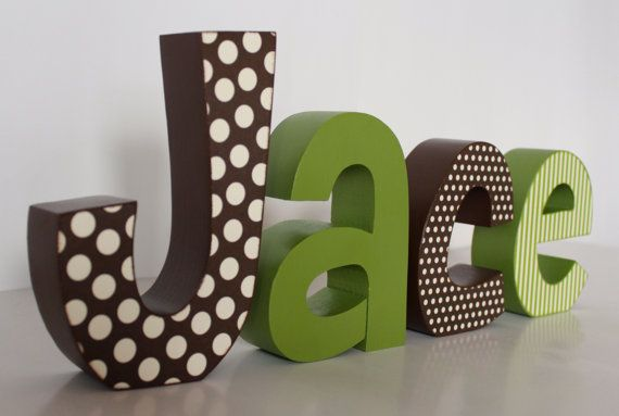 letter blocks decor