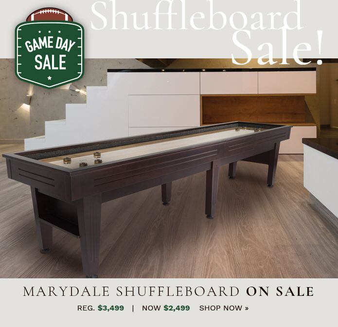 Moving our shuffleboards to the game day sale!  http://www.billiardfactory.com/game-day-sale?utm_content=buffer54863&utm_medium=social&utm_source=pinterest.com&utm_campaign=buffer