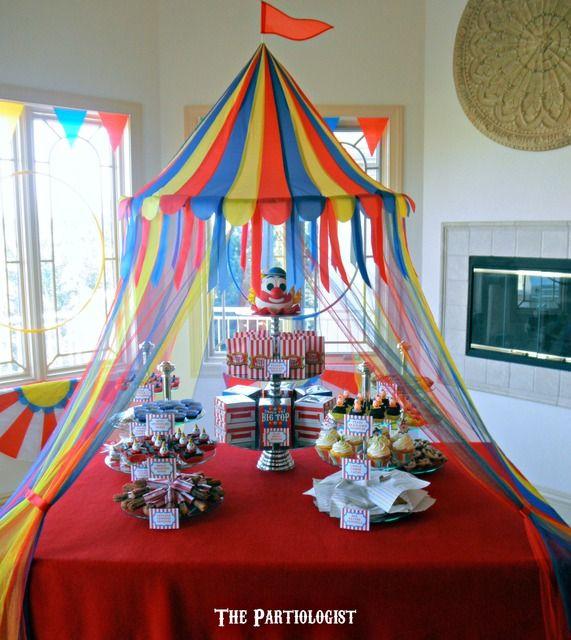 Circus dessert table #circus #desserttable