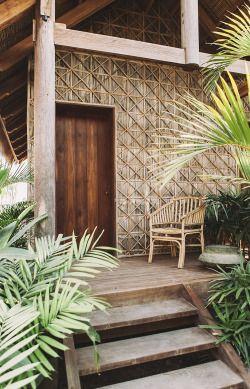 Tropical cabin #palmleaves