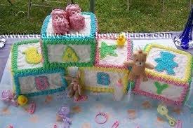 Shower Block Cake