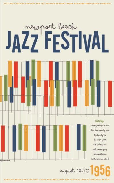 Newport jazz festival newport 1956 #poster #design #retro