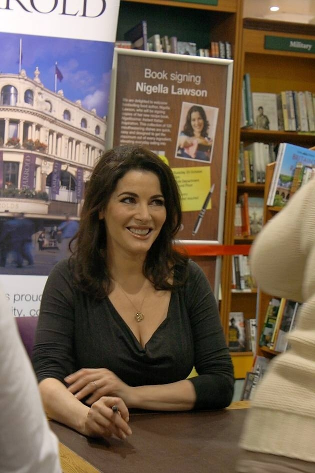 Nigella Lawson signing her new book Nigellissima in Jarrolds, Norwich. These photos were submitted by iwitness24.co.uk user Fran Stone.