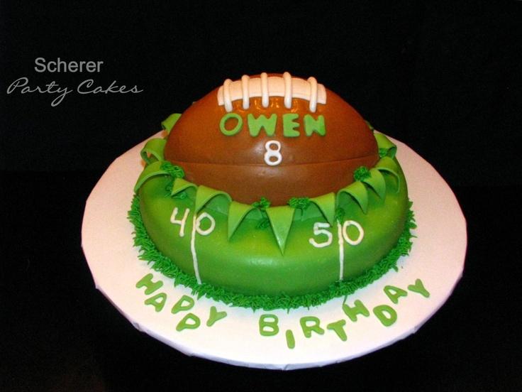 Cake Decorating Football Theme : football theme cake!! My Creations!!!! AKA: Scherer ...