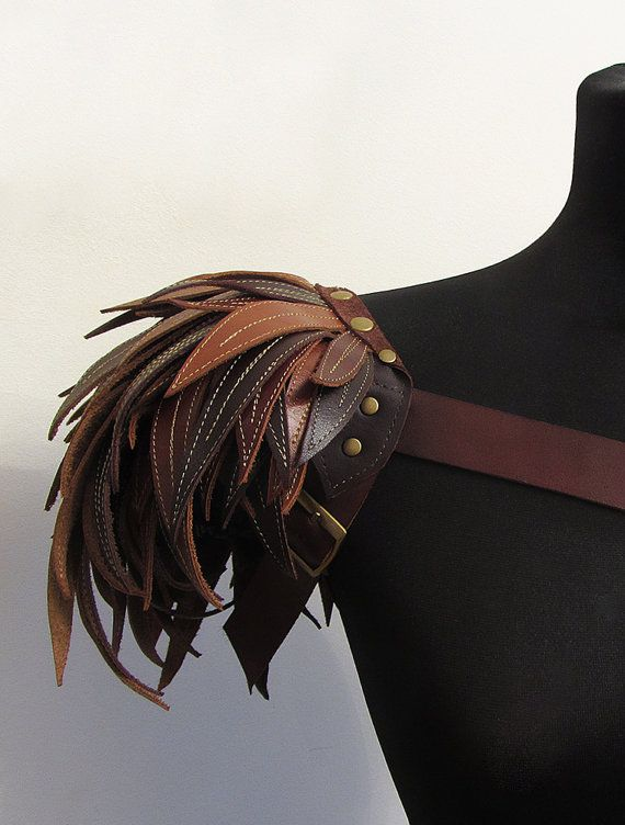 Fashion Shoulder pad / pauldron / shoulder accessories / leather epaulet / Edgy fashion / Edgy shoulder accessory