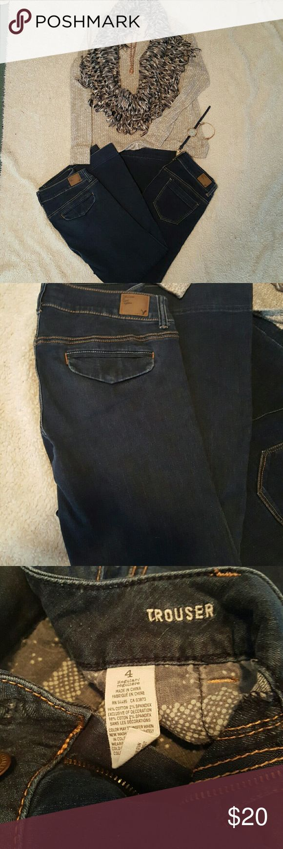 Ladies American Eagle jeans American eagle trouser,and hipster flare 2 for $20 American Eagle Outfitters Jeans Flare & Wide Leg
