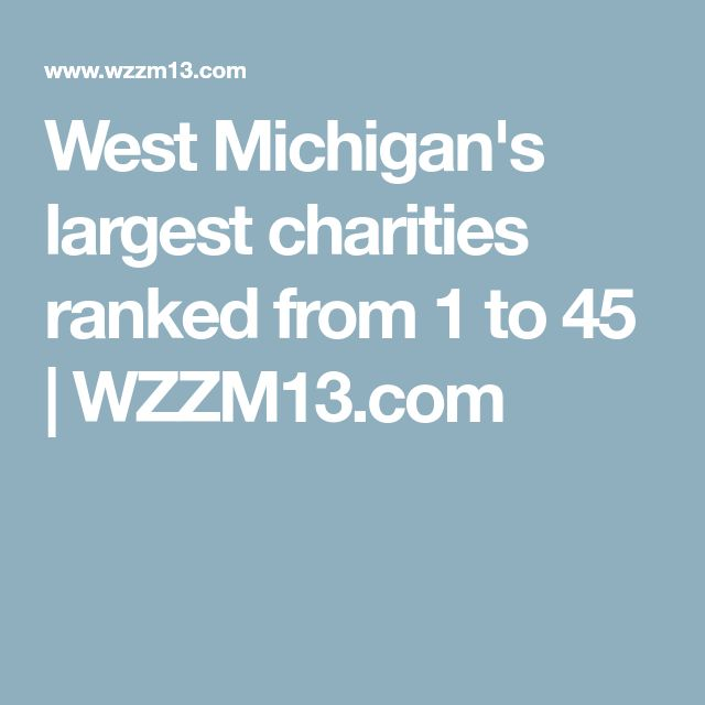 West Michigan's largest charities ranked from 1 to 45 | WZZM13.com