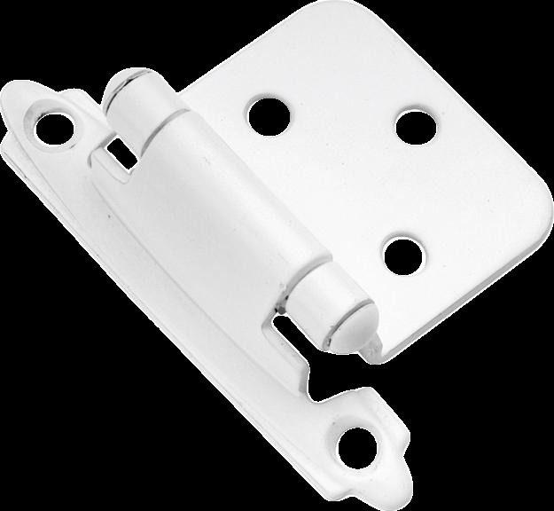 Set of 4 Belwith Cabinet Hardware White Flush Hinge P144-W Surface Self-Closing  #Belwith