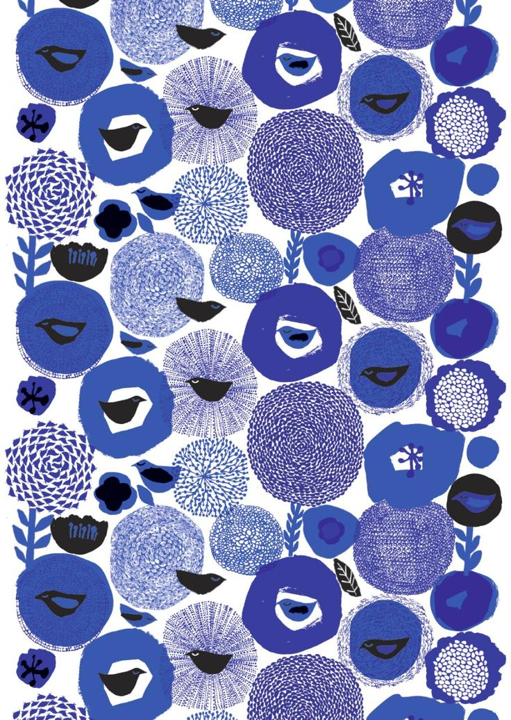 blue surface pattern | by matti pikkujämsä for marimekko