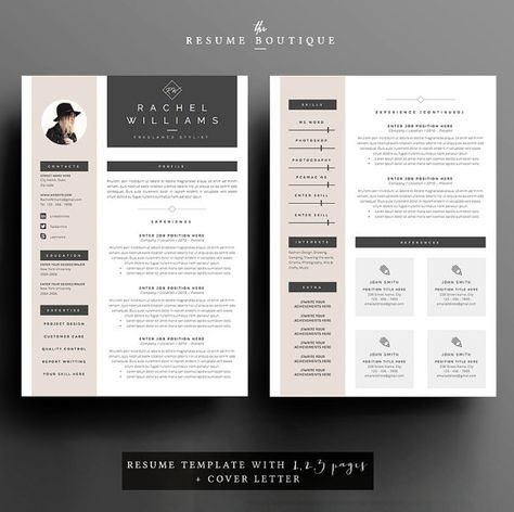 || PROMO CODE: 2 resumes for 25$ USD, use code 2PLEASE || Welcome to the Resume Boutique! We create templates that help you make a lasting impression when applying for your dream career. We aim for sophistication and elegance with a modern twist, combined with a thoughtful design with plenty of space for all your text content. ▬▬▬▬▬▬▬▬▬▬▬▬▬▬▬▬▬▬▬▬▬▬▬ Download this file for a professionally designed and easy to customize 2 PAGE resume ( with an extra bonus +1 resume page for additional work...