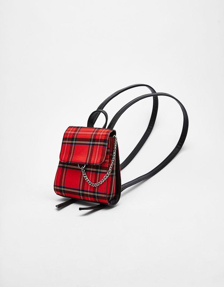 Minisac à dos à carreaux écossais