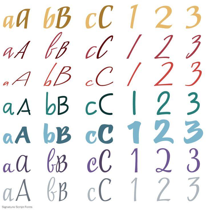 Signature Script Fonts
