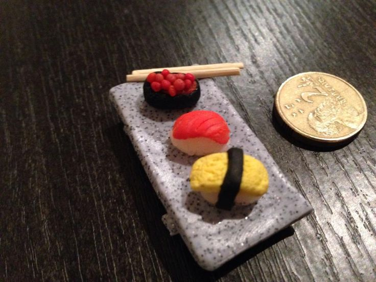 Polymer Clay mini sushi