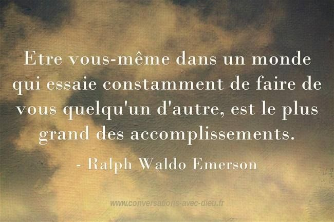 Etre vous-même dans un monde qui essaie constamment de faire de vous quelqu'un d'autre est le plus grand des accomplissements. - Ralph Waldo Emerson  http://ift.tt/1hbAx37