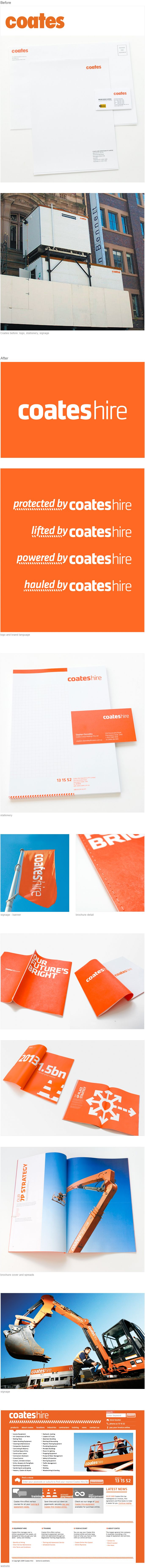 Client: CoatesHire - www.coates.com.au www.ideaworks.com.au #rebrand #stationary