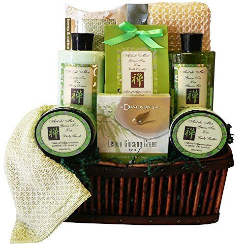 Art of Appreciation Gift Baskets Green Tea Zen Spa Bath and Body Gift Set *** Want additional info? Click on the image.