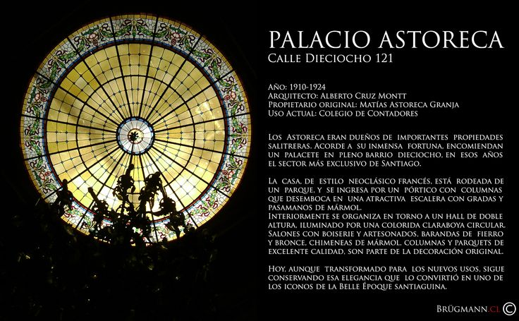 Palacio Astoreca  Calle Dieciocho 121, Santiago de Chile.