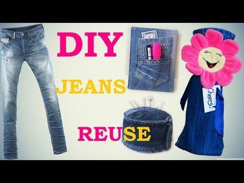 Creative Ideas - 8 DIY Ways to Repurpose Old Jeans - iCreativeIdeas.com