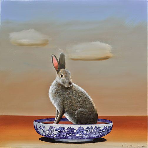Robert Deyber | ACRYLIC | Hare in Your Soup