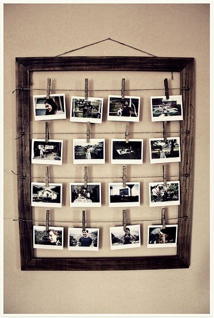 Photoframes can be so expensive, such a cute idea! Photo's make a house a home! :)