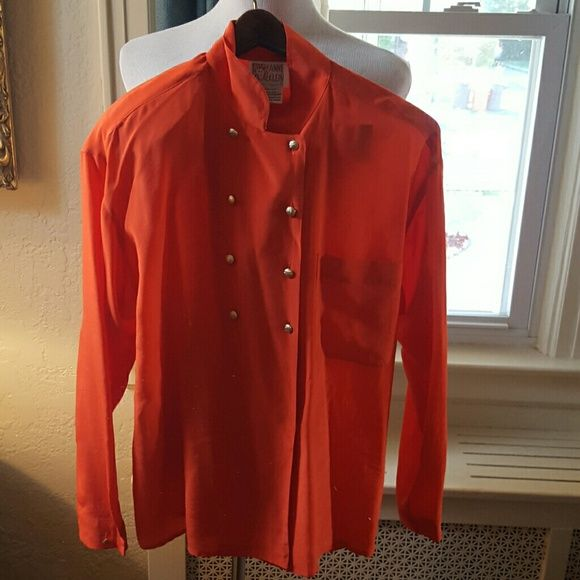 Vintage Anne Klein silk top M From the same home that a lot of the eighties clothes I am selling. No stains, gorgeous color, but it is missing one shoulder pad. I personally would take it out. 17 inches shoulder to shoulder.. 20 inches underarm to underarm Reasonable offers are welcome. Vintage Anne Klein Tops Blouses
