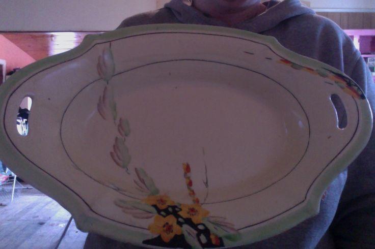 A.J. Wilkinson decorative bowl, Royal Staffordshire Pottery Honeyglaze.  I've put it on ebay, hope the Clarice Cliff collectors spot it