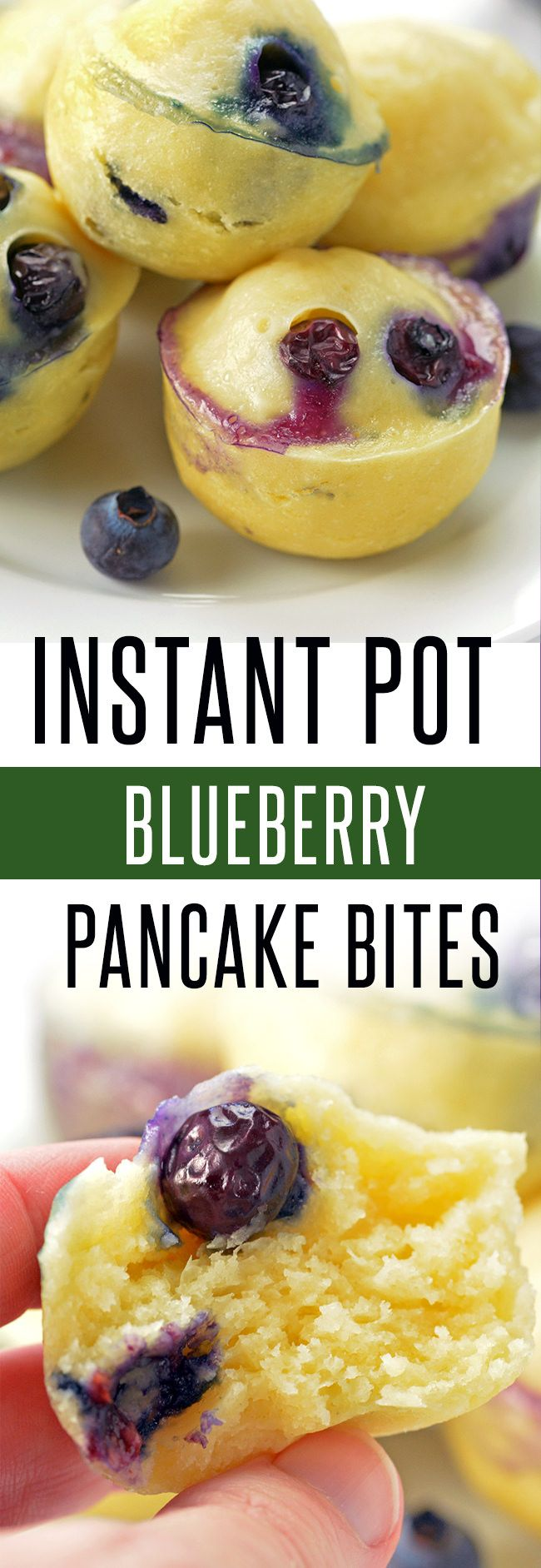 Homemade Pancakes in the Instant Pot! This Instant Pot Recipe can be adapted to your liking! Ready to serve in under 10 minutes! Click for more Instant Pot recipes at foodieandwine.com #breakfastrecipes #pancakerecipes #instantpotrecipes