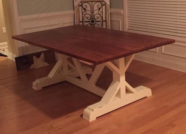 X Frame Farm Table