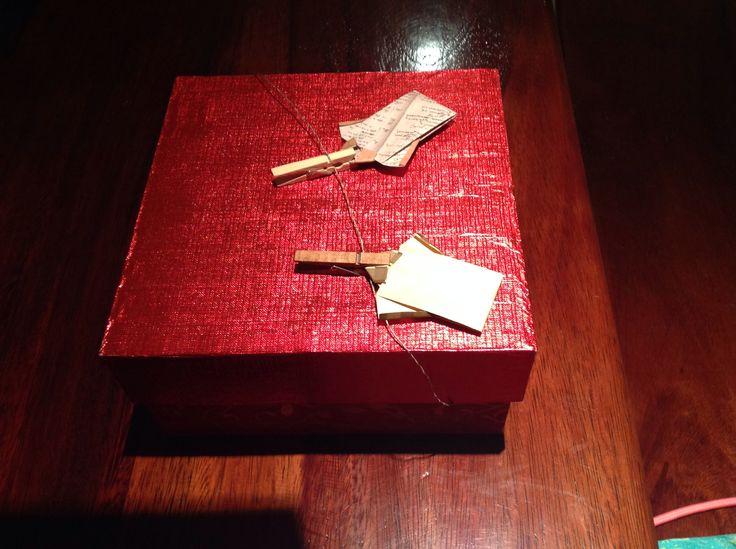 Caja decorada con papel #origami #box