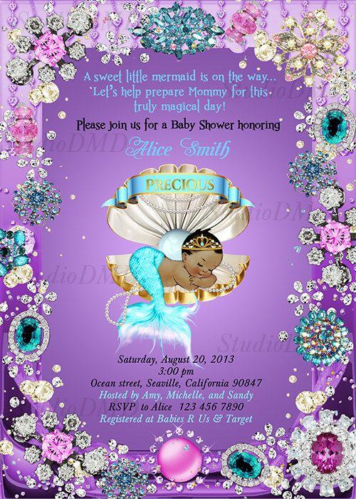 image regarding Printable Mermaid Baby Shower Invitations referred to as Mermaid Kid Shower Invitation, Small Mermaid Little one Shower