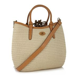 Fiorelli Natural large basket woven grab bag- at Debenhams Mobile