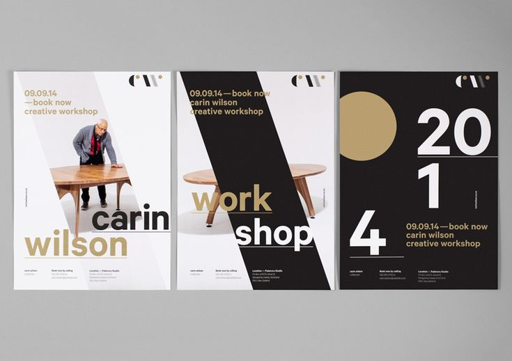 Logo and posters designed by Studio Alexander for furniture maker, sculptor and design educator Carin Wilson. Featured on bpando.org