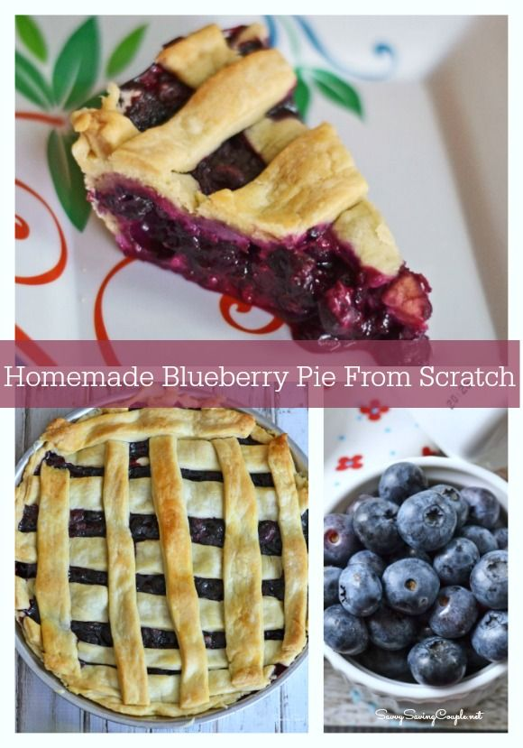 How to Make Homemade Blueberry Pie From Scratch #blueberrypie #pie