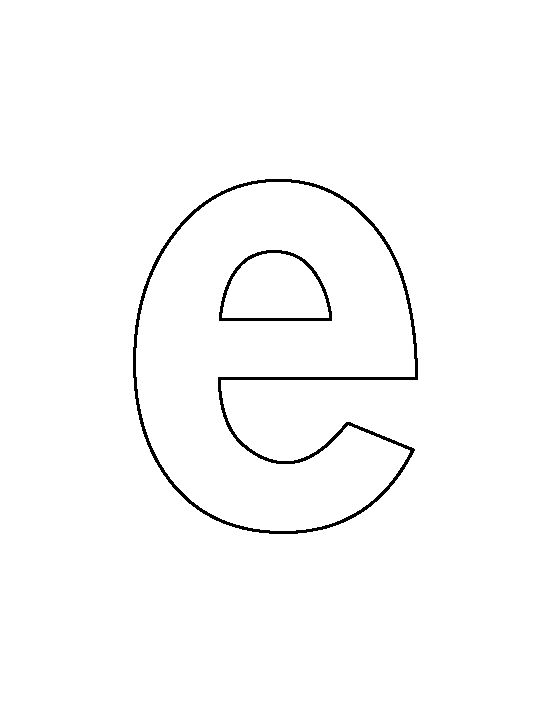 letter e template lowercase letter e pattern use the printable outline for 36047