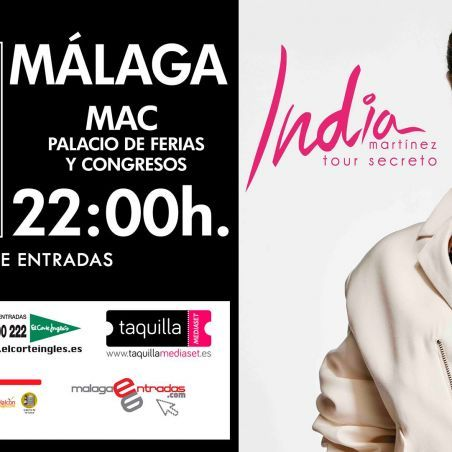 Entradas para India Martínez en Málaga - Tour secreto próximo 6 de mayo 2017