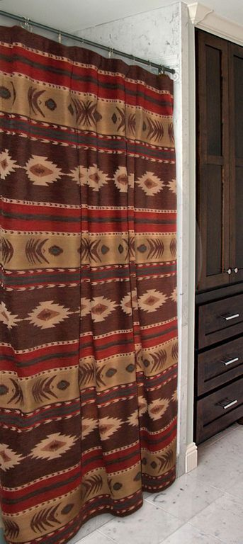 Thank you. You will receive a $1 off coupon during checkout. Cimarron Southwestern Shower Curtain