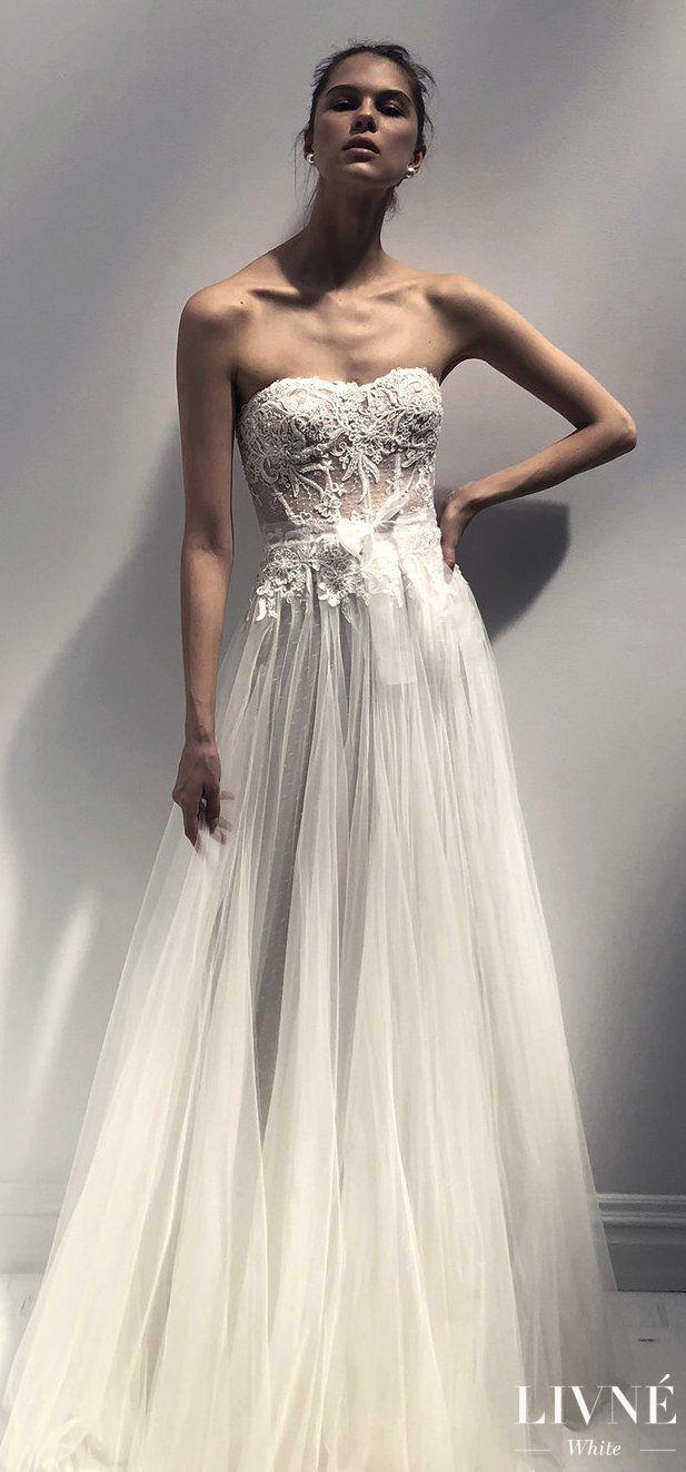 Livné white wedding dress eden bridal collection lace ball