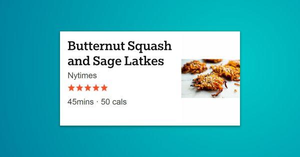 Butternut Squash and Sage Latkes