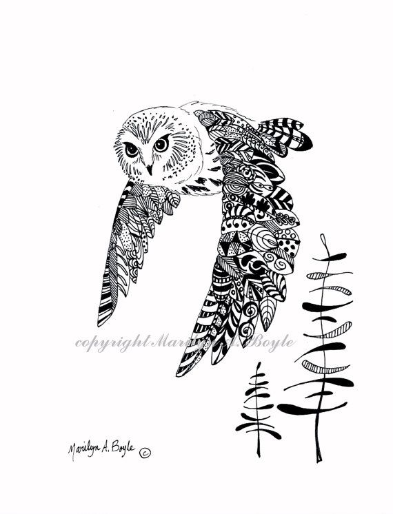 ORIGINELE PEN en inkt tekenen zentangle doodle door OriginalSandMore