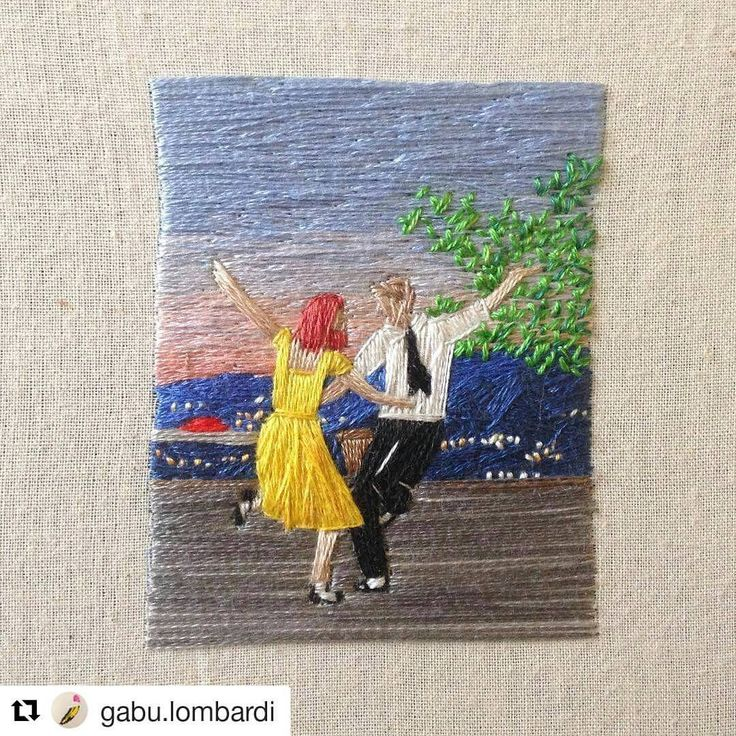I enjoyed La La Land a lot more than I expected. #ryangosling was great on the piano and the dancing was pretty tasty! This stitchery from @gabu.lombardi does the film justice I reckon! What did you think of it? #regram ・・・ An embroidery for the ones who dream, foolish as they may seem ♥️#lalaland #lalalandmovie #handembroidery #musicals #emmastone #dancing #mandymoore #creativityfound #thatsdarling #mrxstitch
