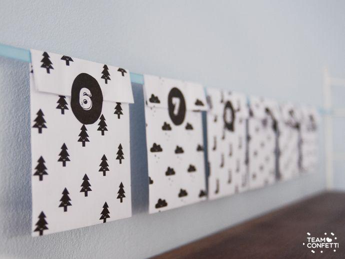 Last year I made an advent calendar and a tradition was born. Here's the 2014 one! Vorig jaar maakte ik ook een adventkalender en ik heb besloten die traditie voort te zetten. Mooi op tijd zodat er nog genoeg ruimte is om hem in elkaar te knutselen en kleine cadeautjes te kopen (of te maken)…