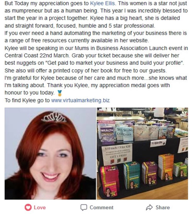 #PostOfTheWeek I am always honored when I see a post like this shared about myself or my business. Share with me some of the lovely things people have been saying about you recently...  https://www.facebook.com/luciane.sperling.5/posts/10156418074586614