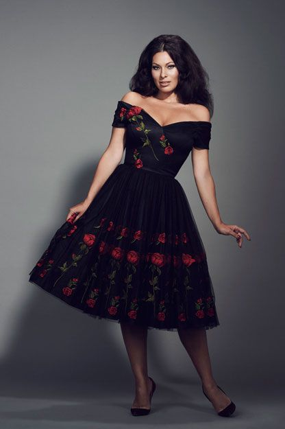 i am drooling femme fatale black embroidered prom dress from the immodesty blaze collection by. Black Bedroom Furniture Sets. Home Design Ideas