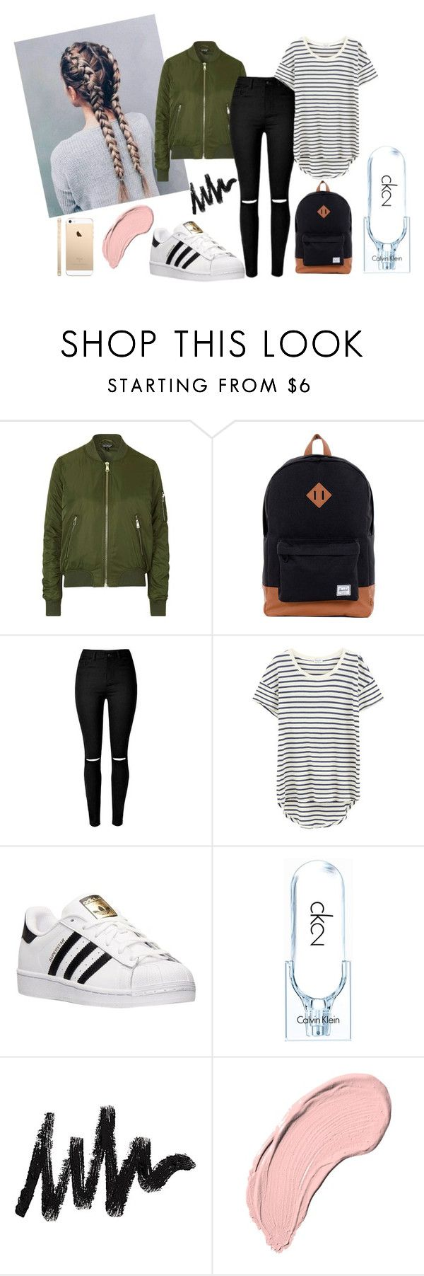 """Back to school 2016"" by tess-302 on Polyvore featuring Topshop, Herschel Supply Co., Splendid, adidas, Calvin Klein and NYX"